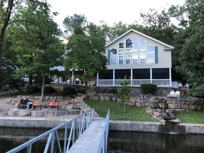 Photo for BEAUTIFUL LF HOME! DOCK W/ AVAILABLE SLIP, STILL WATER + GREAT OUTDOOR SPACES!