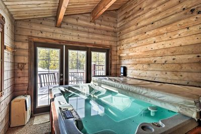Enjoy the perks of a private, indoor hot tub.