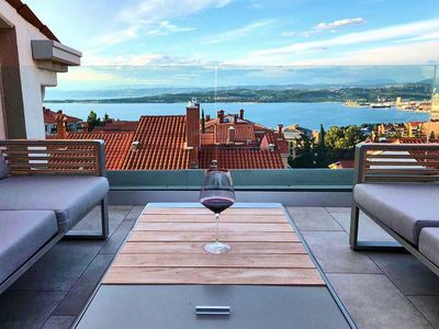 Photo for Hello and warmly welcome to Modern SEA VIEW ART PENTHOUSE KOPER