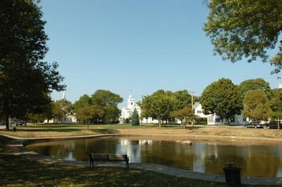 Cohasset Common, a two minute walk from our rental