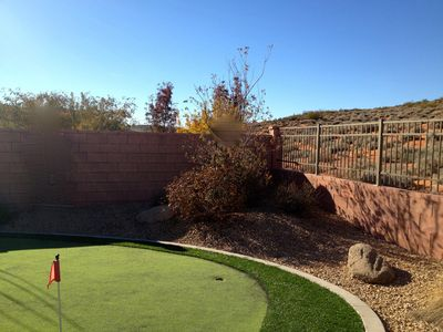 4 hole putting green in the back yard.