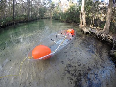 Clear kayaks are available for an additional fee