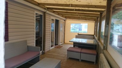 Photo for MOBIL-HOME comfortable for 2 to 6 people, Domaine de Kerlann