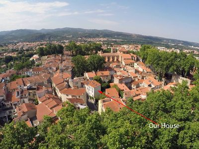 Photo for Old town house in a lively French town, 50yds from 3 restaurants and a wine bar