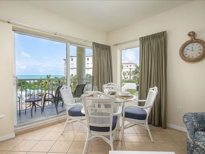 Photo for NEW LOW SUMMER RATES!  BOOK YOUR TRIP THIS SUMMER ~ GULF VIEWs, WATCH THE SUNSETS FROM BALCONY; SUPER FUN FAMILY RESORT~ SLEEPS 6