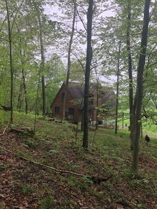 Photo for Secluded Cabin w/stocked pond and Incredible views from large deck and hot tub!