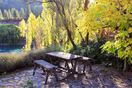 Outside table in Autumn