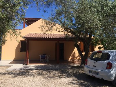 Photo for Villa with pool surrounded by olive groves. With sea view.Casa in campagna.