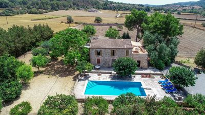 Photo for Manenta - Typical Mallorcan, rustic country house with child-proof pool