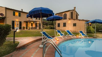 Photo for ROMANTIC FARMHOUSE VILLA WITH PRIVATE INFINITY POOL AND GREAT VIEWS IN LUCCA