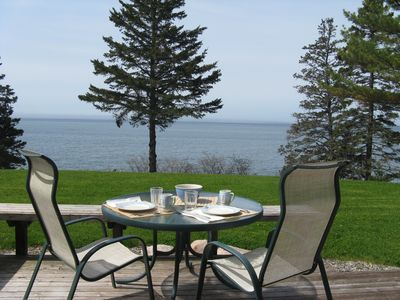 View from Pinelodge Cottage.   Sit out on the deck and enjoy the peace and quiet