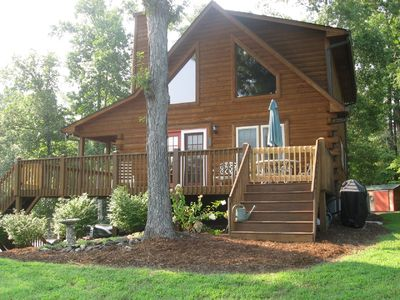 Photo for Overlook Cabin -ONLY 3 MILES to TIEC / CLOSEST GATED COMM / MT & SUNSET VIEWS