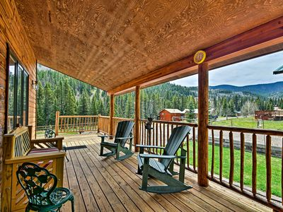 Photo for Cozy Cabin Home w/ Mtn Views Steps From Red River!