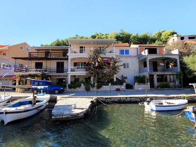 Photo for Two bedroom apartment with terrace and sea view Gršćica, Korčula (A-169-a)