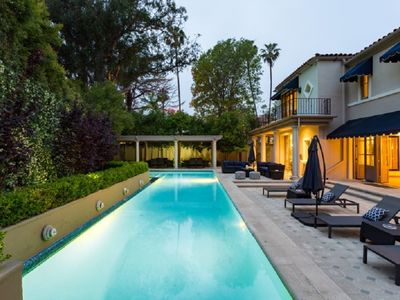 Photo for Live the 90210 Lifestyle - Tennis Court Villa Across the Street from BH HOTEL.