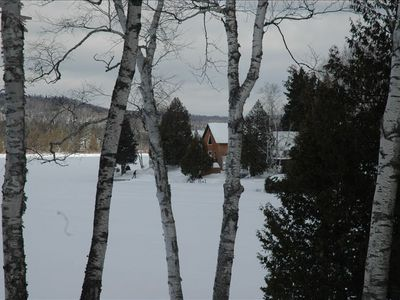 Winter view of our home