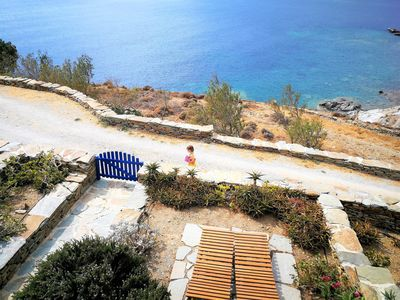 Photo for Seaside house next to the beach - B // Stavros Bay