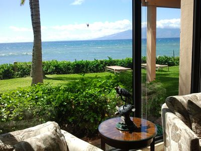 Photo for Oceanfront and Sunset Views: Beautiful remodeled Ground Floor Condo - The Mahana