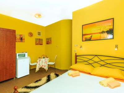 Photo for Charming Seafront Apartment Yellow, steps away from the Adriatic Sea