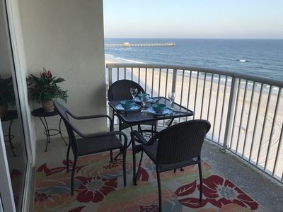 Photo for RENOVATED EAST CORNER TWO BEDROOM GULF FRONT CONDO/CLOSE 2 ATTRACTIONS & PIER