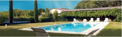 Photo for Mas arranged in 4 cbr, swimming pool, inn. 3 GIRLS, 2 people, Drôme Valley