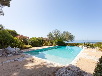 Photo for Luxury 7-bedroom seafront Villa (direct access to the beach) with swimming pool