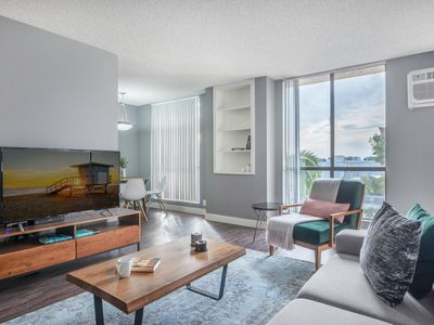 Photo for Heart of WeHo 1BR w Pool + Gym walk to Sunset Blvd by Blueground