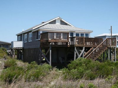 Photo for Beside the Sea: 3 Bed/2 Bath Oceanfront, Quaint Beach Cottage with Vintage Touch