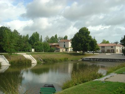 Photo for ** Cottage terrace, garden, Marais Poitevin (village Puy du Fou)