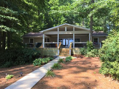 Photo for Lake Gaston Lakefront with huge deck, kayaks, SUPs, boat launch nearby