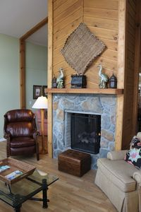 Plenty of comfortable seating by the fire.
