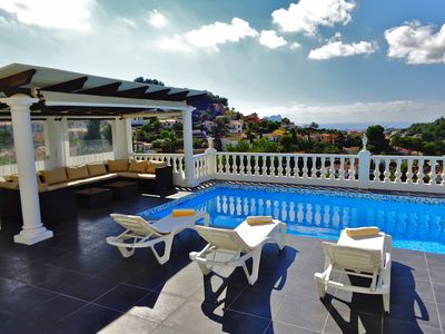Photo for 2bed 2bath apartment with private pool and sea views enjoys all day sunshine!