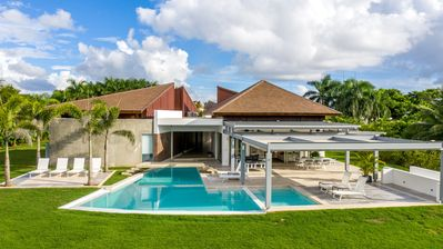 Photo for AMAZING PRIVATE VILLA W/ BIG LAWN, POOL, JACUZZI, GOLF CART, CHEF, BUTLER & MAID