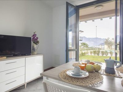 Photo for Papaveri apartment in Lago d'Iseo with WiFi & private roof terrace.