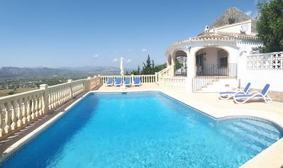 Photo for Villa in Jávea, large private pool, panoramic views, air conditioning, free Wi-Fi, garage