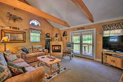The vacation rental features all of the comforts of home and more.