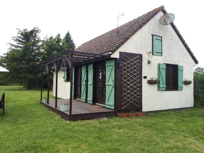Photo for 2 bedroom Chalet set in 3 1/2 acres overlooking a tranquil ornamental lake