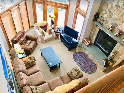 Photo for CR6: Beautiful views from this Crawford Ridge Townhome a short walk from the slopes. FIREPIT! Jetted Tub.  Free shuttle! DISCOUNTED COG TICKETS
