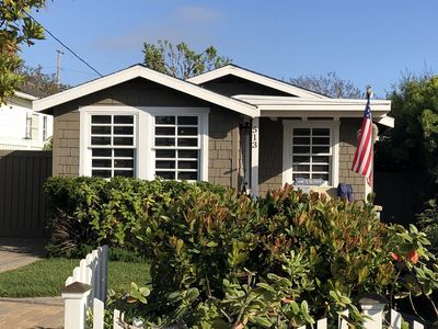 Photo for Your getaway solution! Walk to beach, dining, galleries. Charming 1928 cottage.