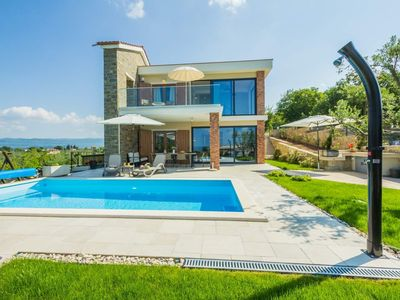 Photo for Modern holiday home with view of the pitoresque town Draguc