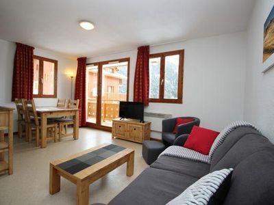 Photo for Wifi, 1st floor, view mountain, balcony, tv, ski locker, 37m², Valfréjus