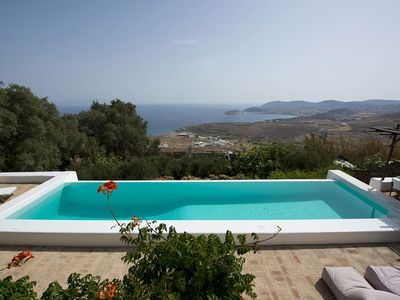 Photo for Panoramic Villa Eliana, in Mykonos, near Lia beach, with private pool, 6 bedrooms, 12 sleeps