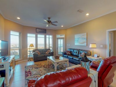 Photo for Bayfront dog-friendly home w/ beach access, breathtaking views