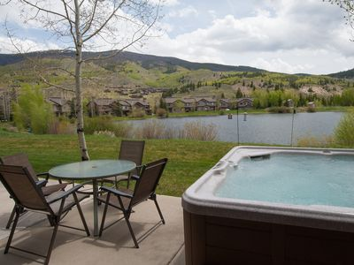 Photo for Private hot tub, waterfront, center of town, 15 minutes to Ski Resorts, views!