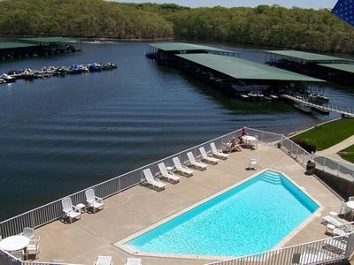 Photo for LAKESIDE CONDO,  3 pools, Walk in level, boat slip, 2 bed/2 bath, gorgeous views