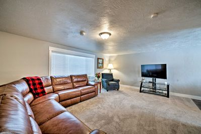 Explore the Idaho Falls Area from this 5-bedroom, 3-bath vacation rental home!