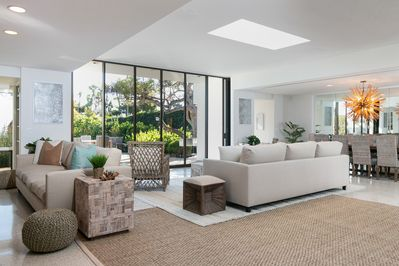 Living Room - The modern living room offers an inviting space in which to unwind.