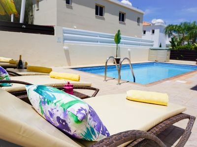 Photo for Villa Soraya 2-Beautiful Villa with Private Pool, BBQ, WIFI and UK Channels. Only 600 Meters from the Beach