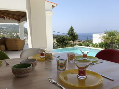 Photo for Wonderful house with infinity pool in Cala Vadella, at walking distance from the beach