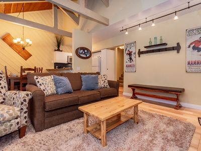 Photo for Inviting townhouse near Eagle Lodge with loft, private deck and hot tub access